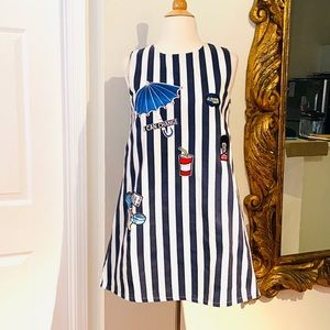 VINTAGE RARE STRIPED PATCHED DRESS